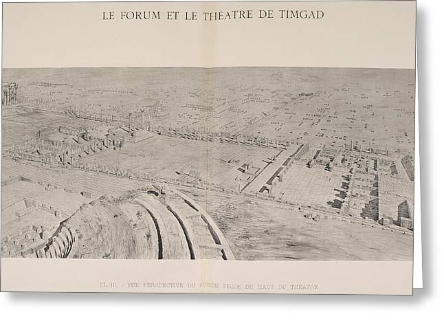 Le Forum Et Le Theatre De Timgad Greeting Card by British Library