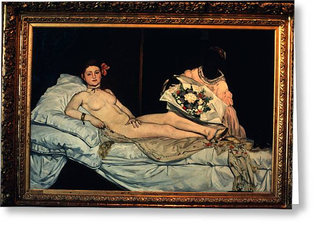 Le Grande Odalisque By Ingre Greeting Card by Carl Purcell