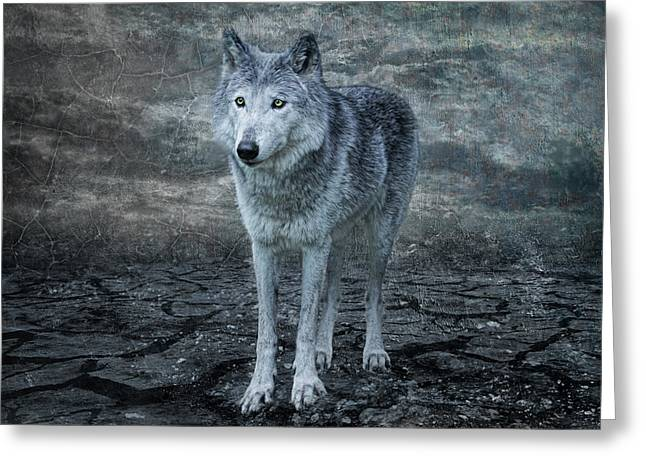 Le Loup Gris Greeting Card