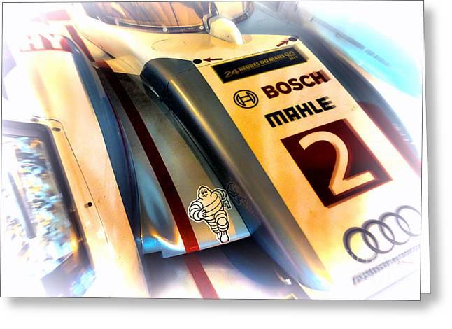 Le Mans 2013 Audi E-tron Quatro R18h Greeting Card by Olivier Le Queinec