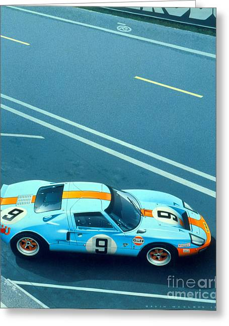 Le Mans 68 Greeting Card by MGL Meiklejohn Graphics Licensing