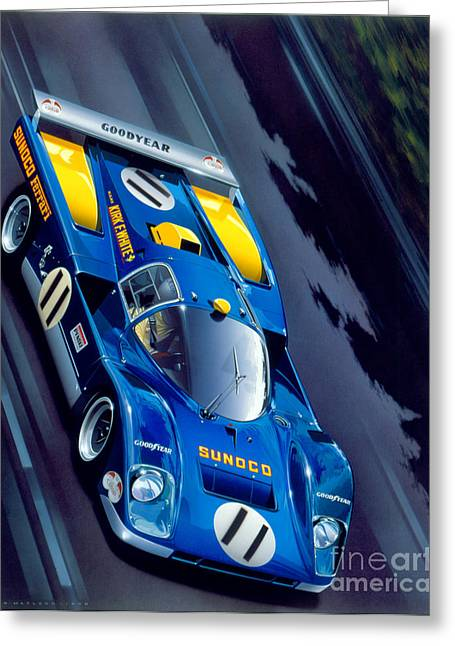 Le Mans 71 Greeting Card by Gavin Macloud
