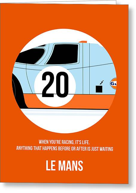 Le Mans Poster 2 Greeting Card by Naxart Studio