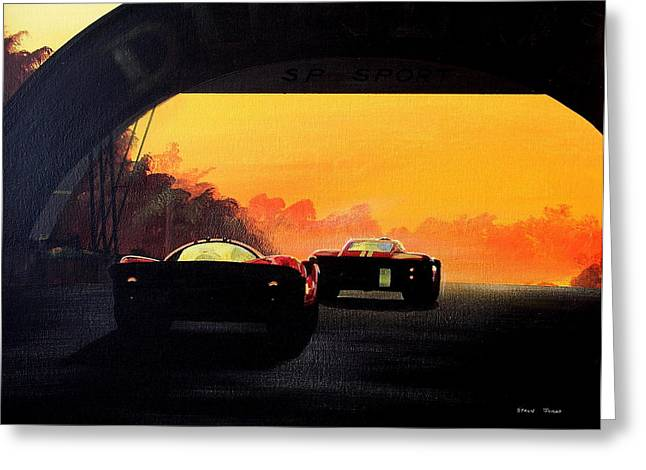 Le Mans Sunset Greeting Card