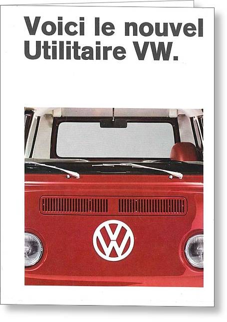 Le Nouvel Vw Greeting Card