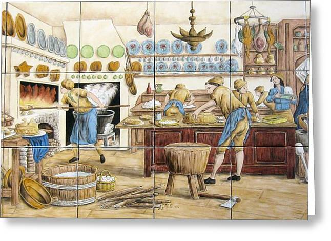 Le Patissier By Diderot Greeting Card by Julia Sweda