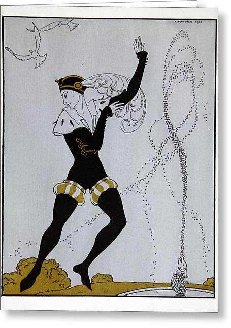 Le Pavillion D'armider Greeting Card by Georges Barbier
