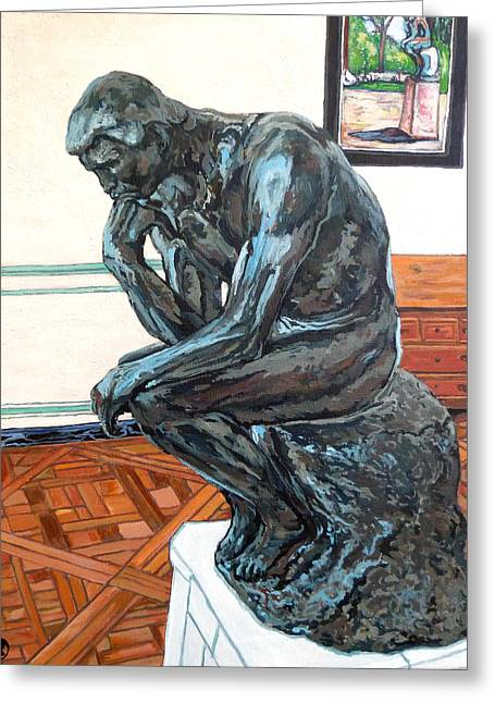 Le Penseur The Thinker Greeting Card by Tom Roderick