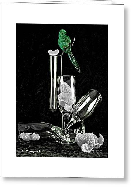 Le Perroquet Vert Greeting Card