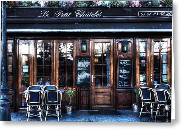 Le Petit Chatelet Paris France Greeting Card by Evie Carrier