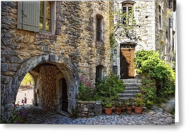 Le Plus Belle Village Greeting Card by Joachim G Pinkawa