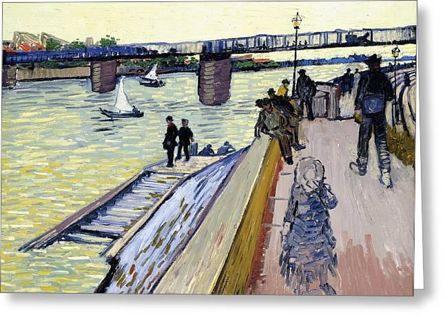 Le Pont De Trinquetaille Greeting Card by Vincent van Gogh