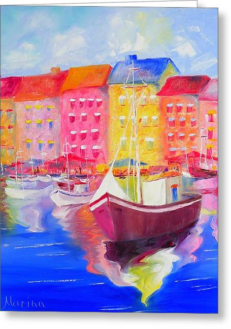 Le Port De St Tropez Greeting Card by Marina Wirtz