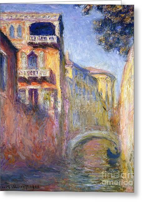Le Rio De La Salute Greeting Card by Claude Monet