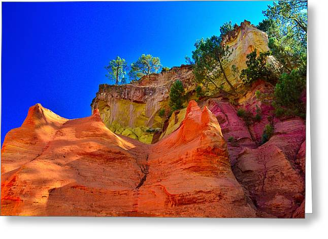 Le Sentier Des Ocres Roussillon France Greeting Card by Jeff Black