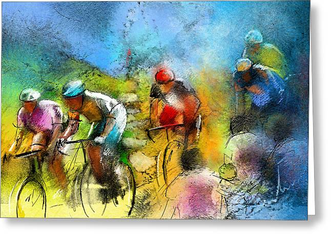 Le Tour De France 01 Greeting Card by Miki De Goodaboom