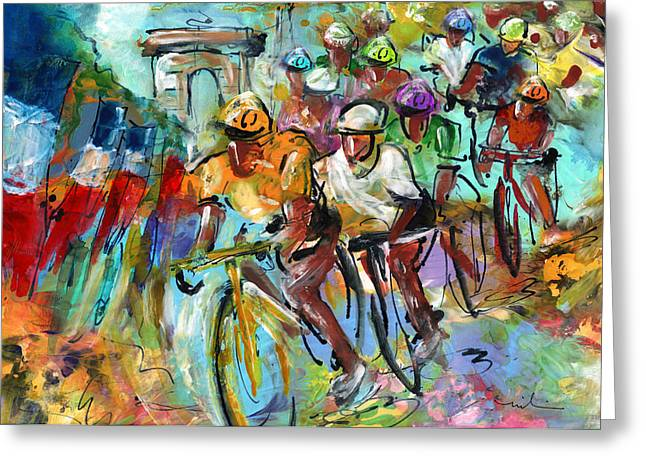 Le Tour De France Madness 02 Greeting Card