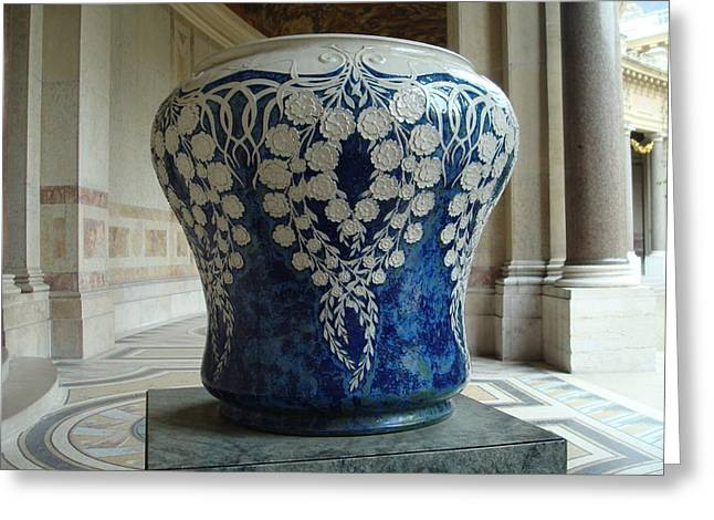 Le Vase Bleu Greeting Card by Kay Gilley