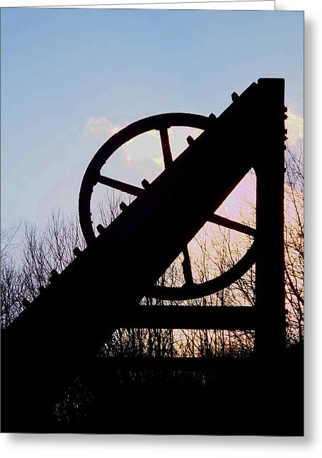 Lead Mine At Sunset Greeting Card