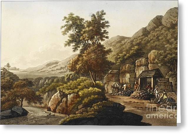 Lead Mine In Wales, 1798 Greeting Card