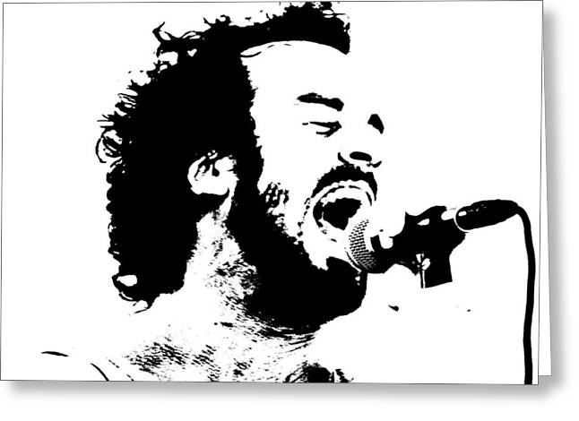 Lead Singer Greeting Card by James Hammen