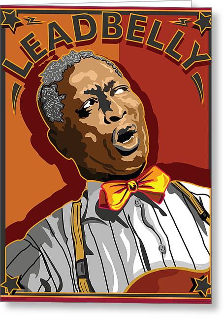 Leadbelly Delta Blues Greeting Card by Larry Butterworth