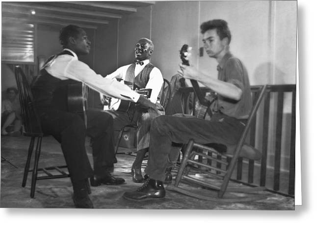 Leadbelly, White, Pete Seeger Greeting Card