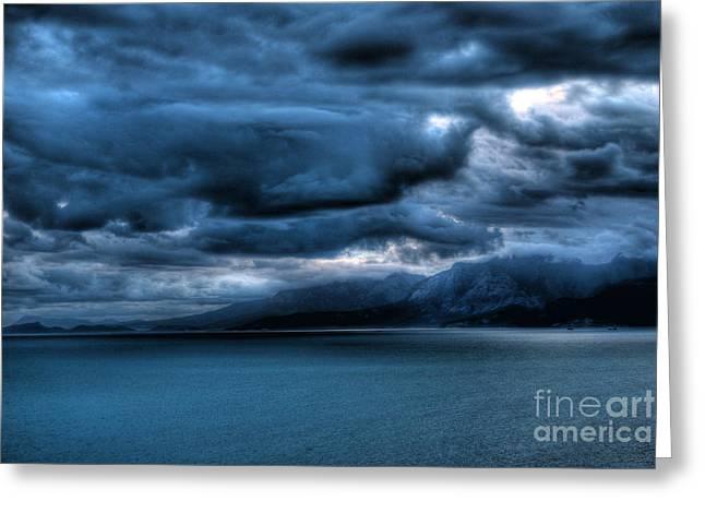 Leaden Clouds Greeting Card by Erhan OZBIYIK