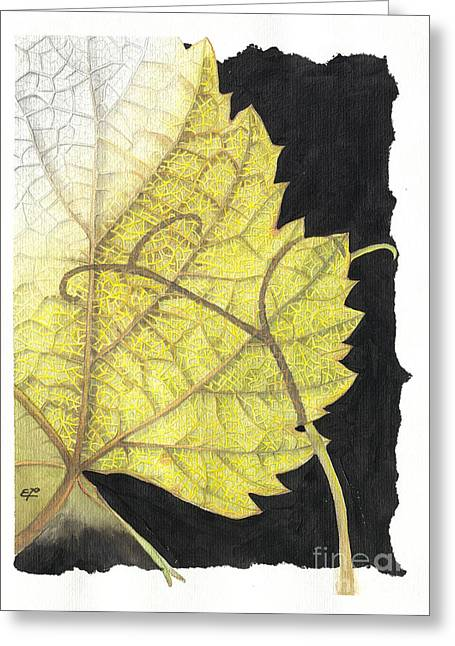 Fineartamerica Greeting Cards - Leaf Greeting Card by Elena Yakubovich
