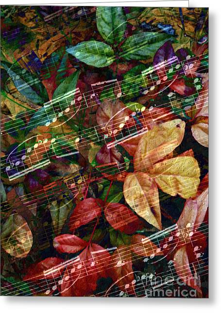 Leaf Motif Greeting Card