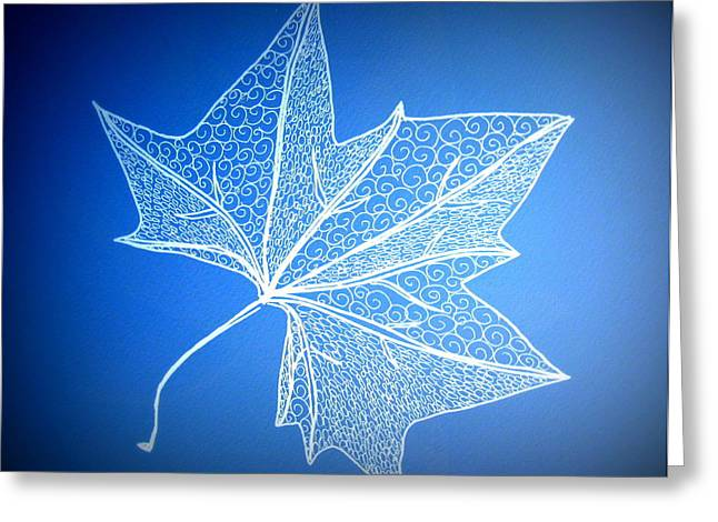 Leaf Study 2 Greeting Card by Cathy Jacobs