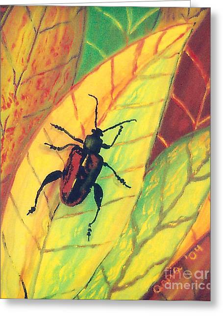 Leaf Surfer Greeting Card