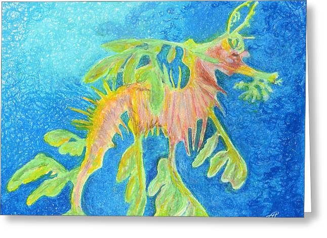Leafy Seadragon Greeting Card by Tanya Hamell