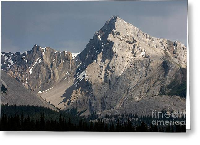 Greeting Card featuring the photograph Leah Peak Canada by Chris Scroggins