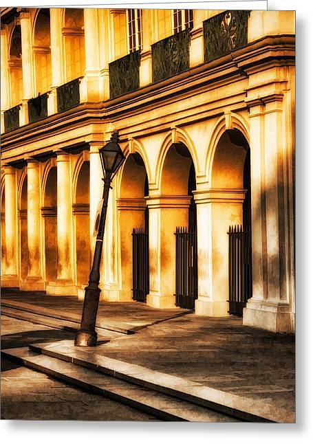 Leaning Lamp Post Greeting Card