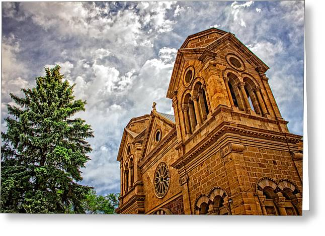 Leaning Toward Heaven Greeting Card by Dave Garner