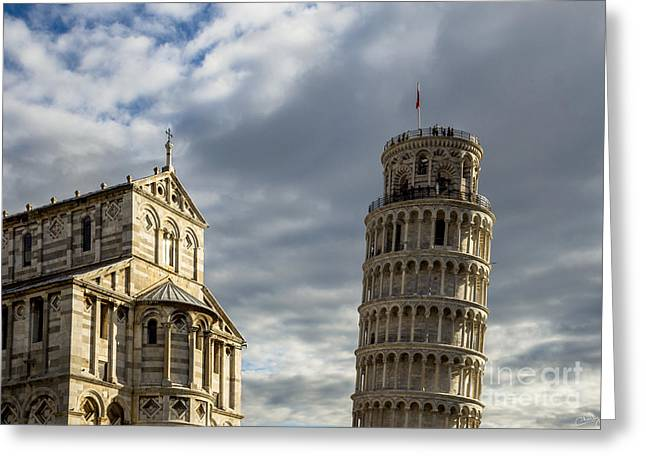 Leaning Tower And Duomo Di Pisa Greeting Card