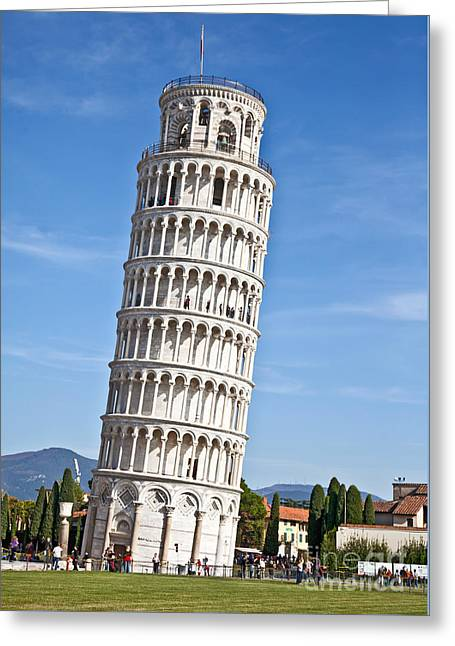 Leaning Tower Of Pisa Greeting Card by Liz Leyden