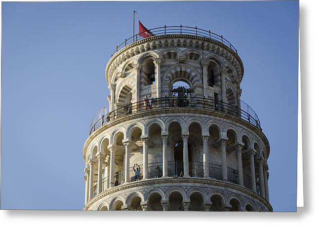 Leaning Tower Greeting Card by Pablo Lopez