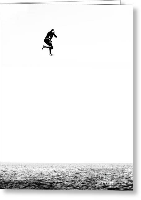 Leap Of Faith Greeting Card by Stelios Kleanthous