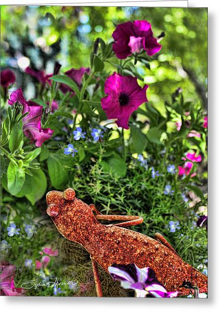 Leaping Lizards Greeting Card by Sylvia Thornton