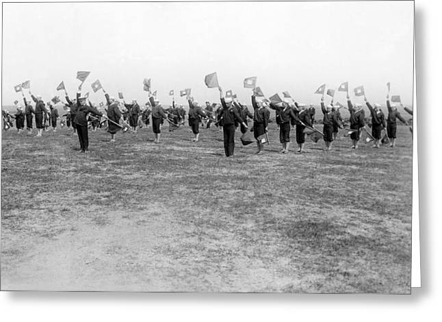Learning Semaphore Signalling Greeting Card by Underwood Archives