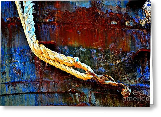 Learning The Ropes Greeting Card by Lauren Leigh Hunter Fine Art Photography