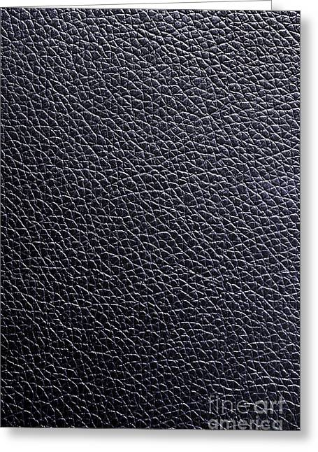 Leather Background Greeting Card by Carlos Caetano