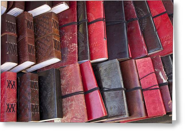 Leather Bound Greeting Card