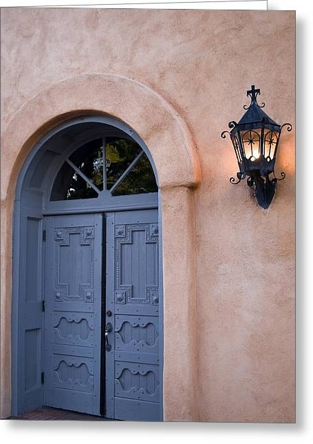 Leave The Light On - Albuquerque New Mexico Greeting Card