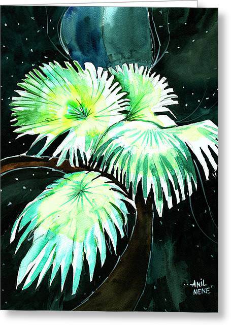 Leaves Greeting Card by Anil Nene