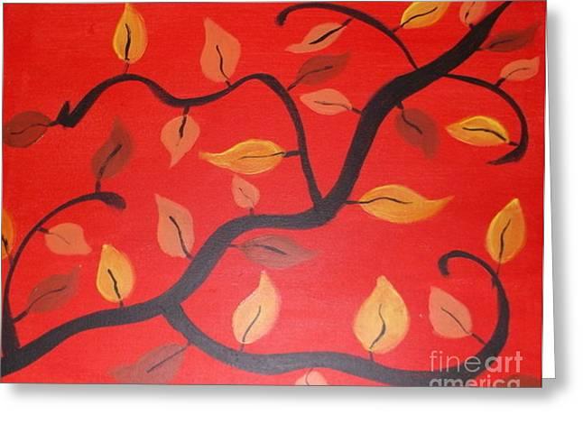 Leaves Greeting Card by Krystal Jost