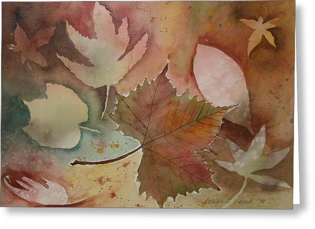 Leaves Greeting Card by Patricia Novack