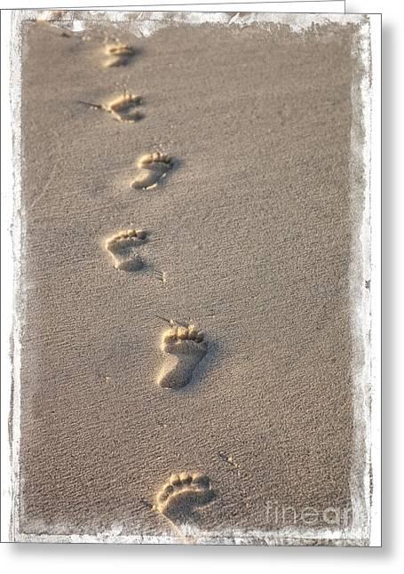 Leaving Footprints Greeting Card